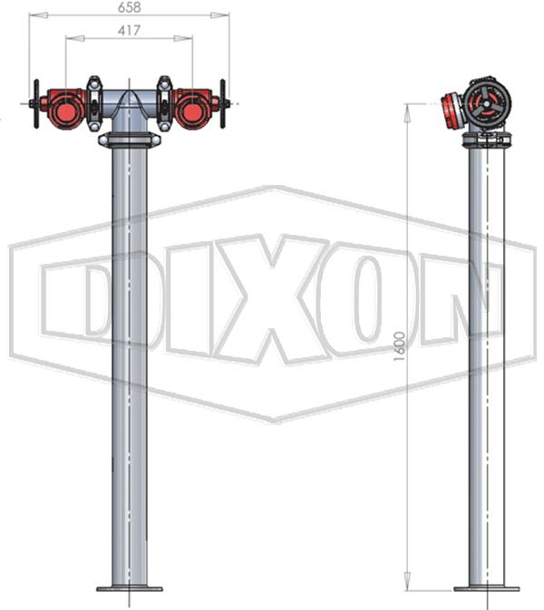 SA Twin Hydrant Riser