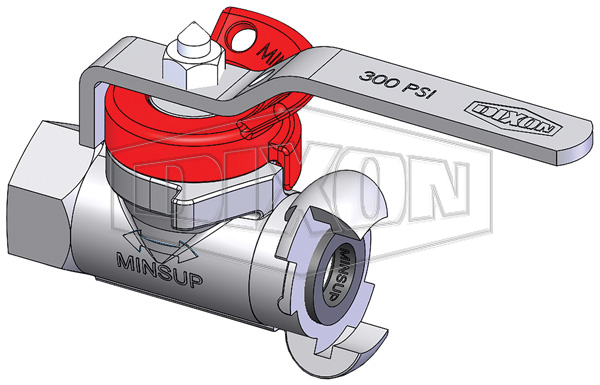 Minsup Lockout Econovalve Female x A-Type Ball Valve