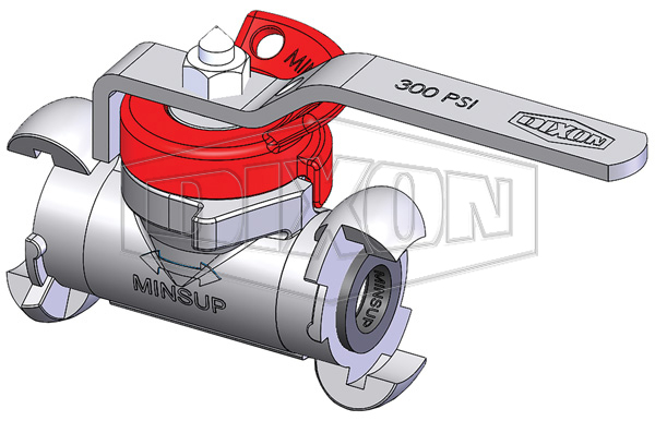 Minsup Lockout Econovalve A-Type Ball Valve