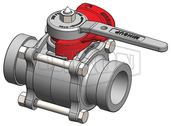 Minsup Lockout Econovalve Shouldered Ball Valve