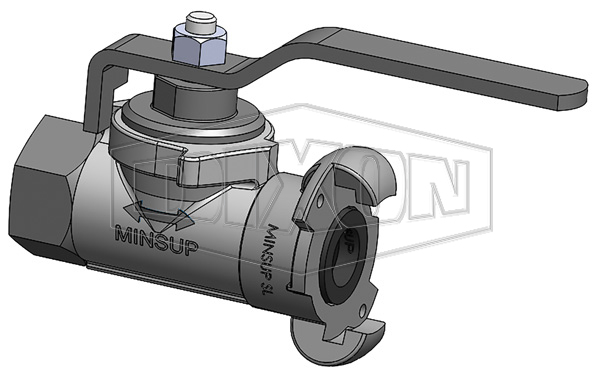 Minsup Econovalve Female x Surelock™ Ball Valve