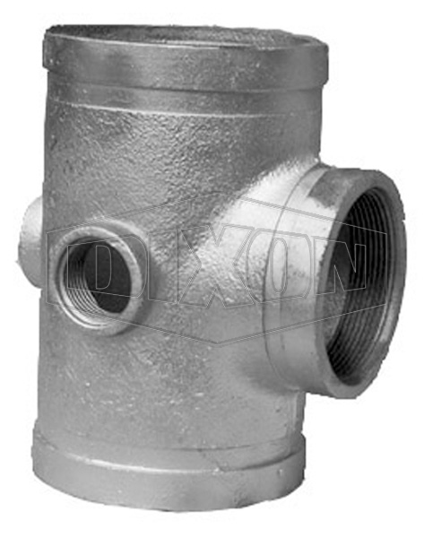 Grooved Hydrant Hose Reel Reducing Tee