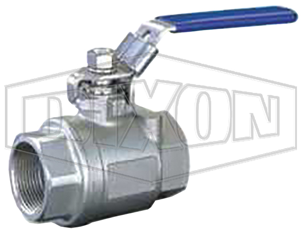 2000 PSI Two Piece Stainless Steel Ball Valve NPT