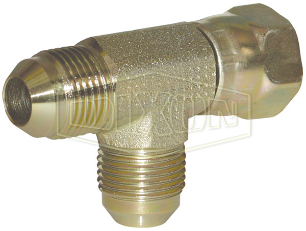 Male JIC 37° Flare x Female JIC 37° Swivel Run Tee