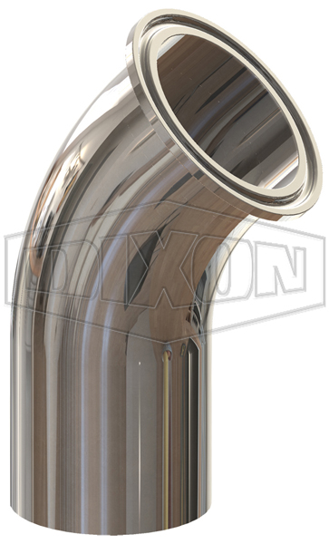 BioPharm 45° Clamp x Weld Elbow