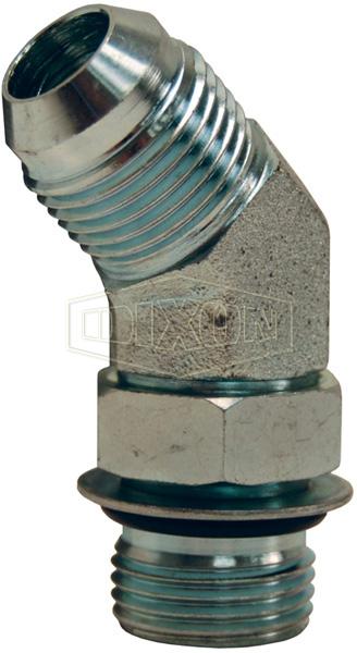 45° Male SAE O-ring Boss x Male JIC Elbow