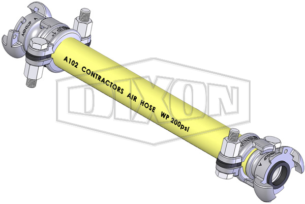 Contractors Yellow Air Hose Assembly (A102)