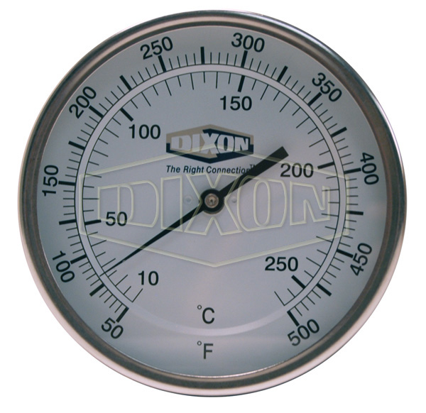 """Bi-Metal Back Connected 5"""" Face Thermometer"""