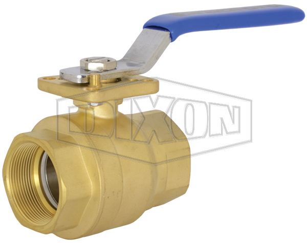 2 Piece Industrial Brass Ball Valve