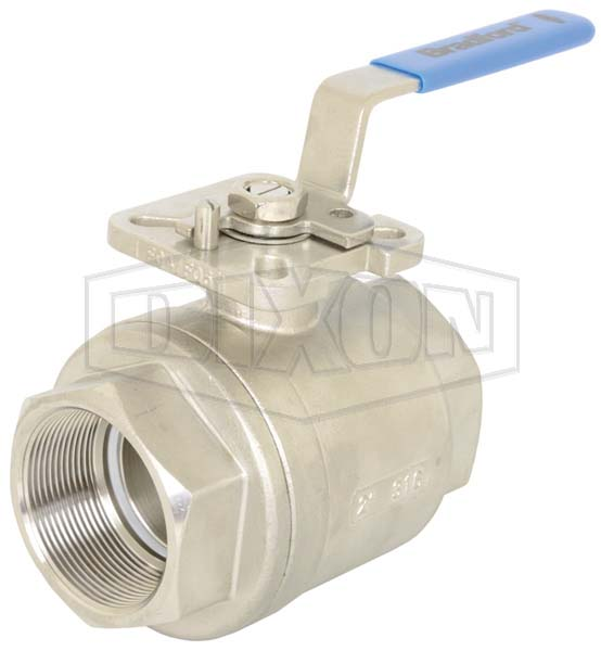 2 Piece Industrial Stainless Steel Ball Valve