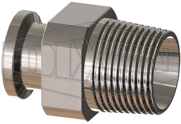 BioPharm Clamp Adapter x Male NPT