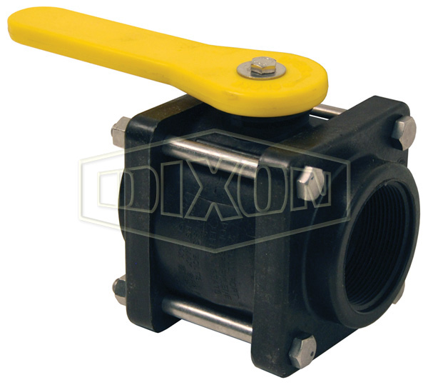 Polypropylene Compact Bolted Ball Valve Female