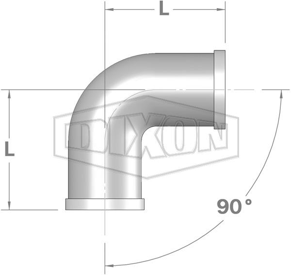 Shouldered End 90° Elbow