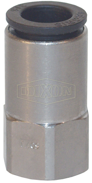 Legris Nylon/Nickel-Plated Brass Push-In Female Connector