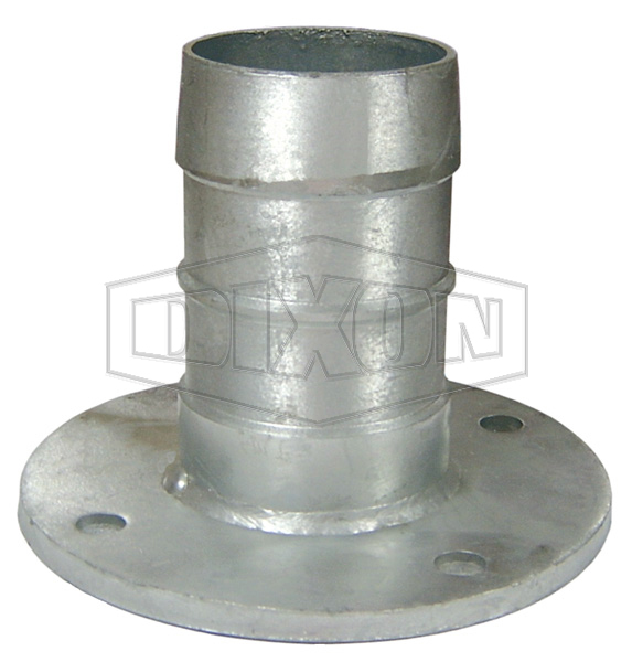 Heavy Duty Table D Flange x Hose Shank