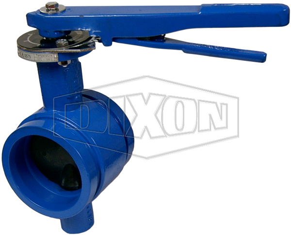 Grooved Lever Operated Butterfly Valve