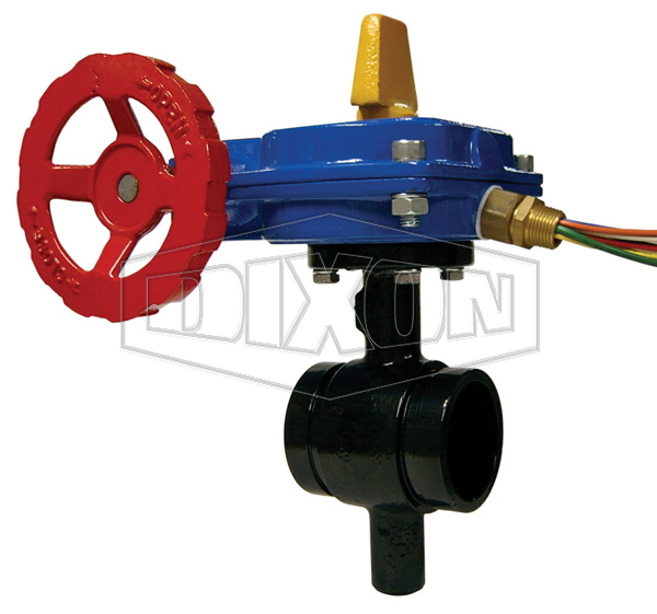 Monitored Iron Butterfly Valve Grooved