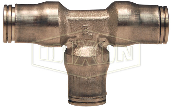 Nickel-Plated Brass Legris Push-In Equal Union Tee