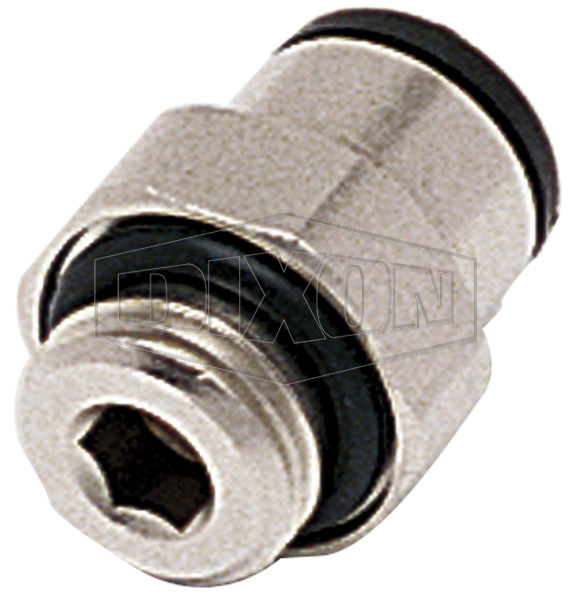 Metric Push-In Male Connector BSPP
