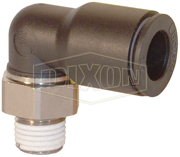 Legris Nylon/Nickel-Plated Brass Push-In Male Elbow