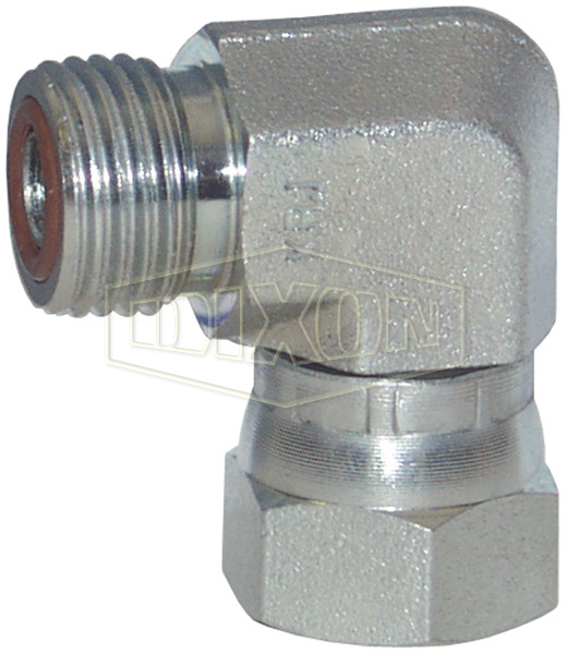 Male x Female Flat Face Swivel Nut 90° Elbow