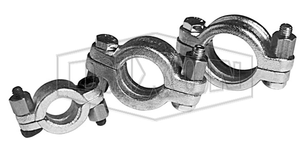 Minsup Double Bolt Clamp with Saddles