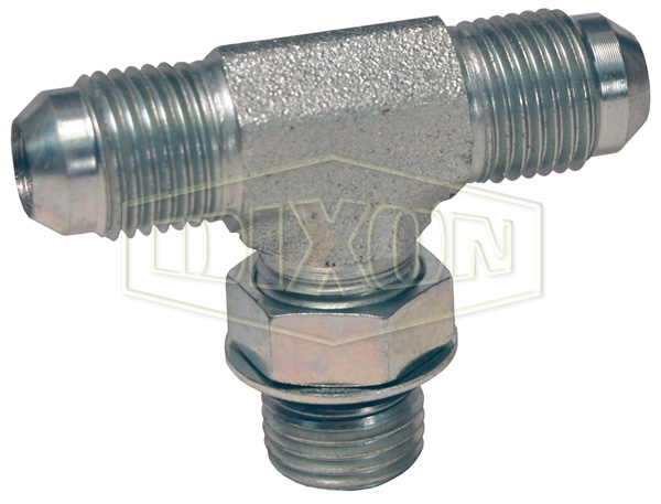 Male 37° Flare x Male O-ring Boss Branch Tee