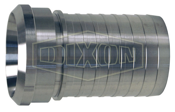 Dixon® Sanitary Style Crimp Stem Female Bevel Seat End x Hose shank