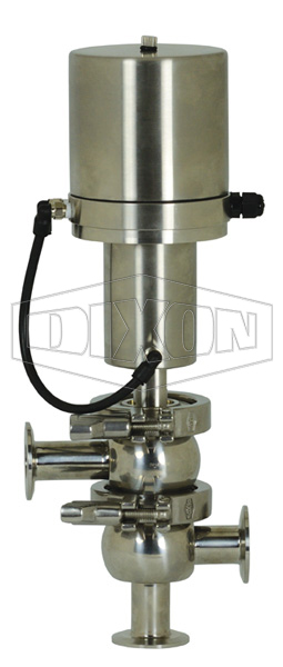SV-Series Single Seat Hygienic Valve L/L Body Pneumatic Actuator Spring Return Air to Lower, Basic Control Top