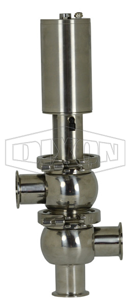 SV-Series Single Seat Hygienic Valve L/L Body Pneumatic Actuator Spring Return Air to Lower