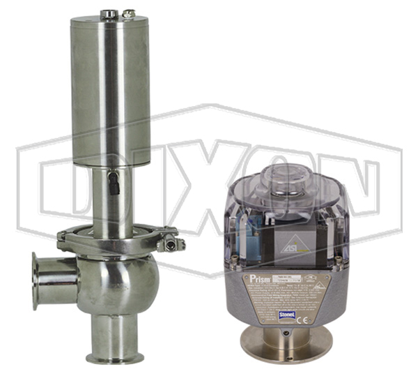 SV-Series Single Seat Hygienic Valve L Body Pneumatic Actuator Spring Return Air to Raise, Communication Module