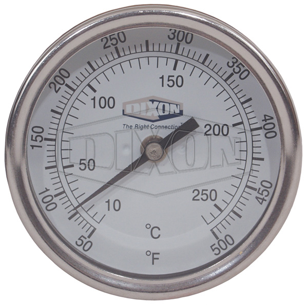 """Bi-Metal Back Connected 3"""" Face Thermometer"""