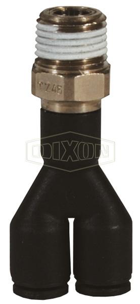 Legris Nylon/Nickel-Plated Brass Push-In Male Wye