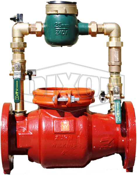 Single Detector Check Valve with Metered By-Pass