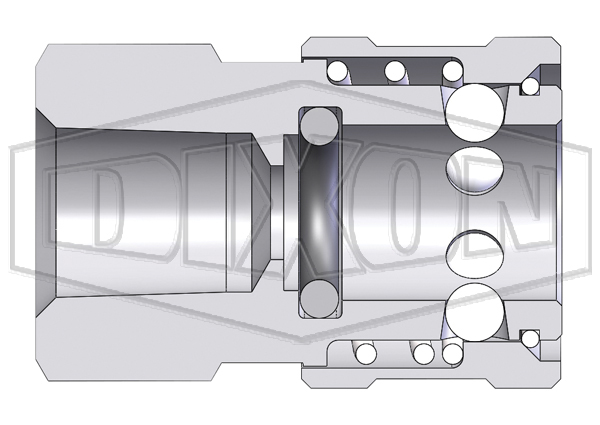 E-Series straight through interchange female coupler
