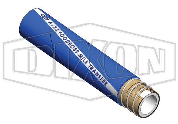 Rubber FOODBOSS Milk Food & Beverage Suction & Delivery Hose (A635)