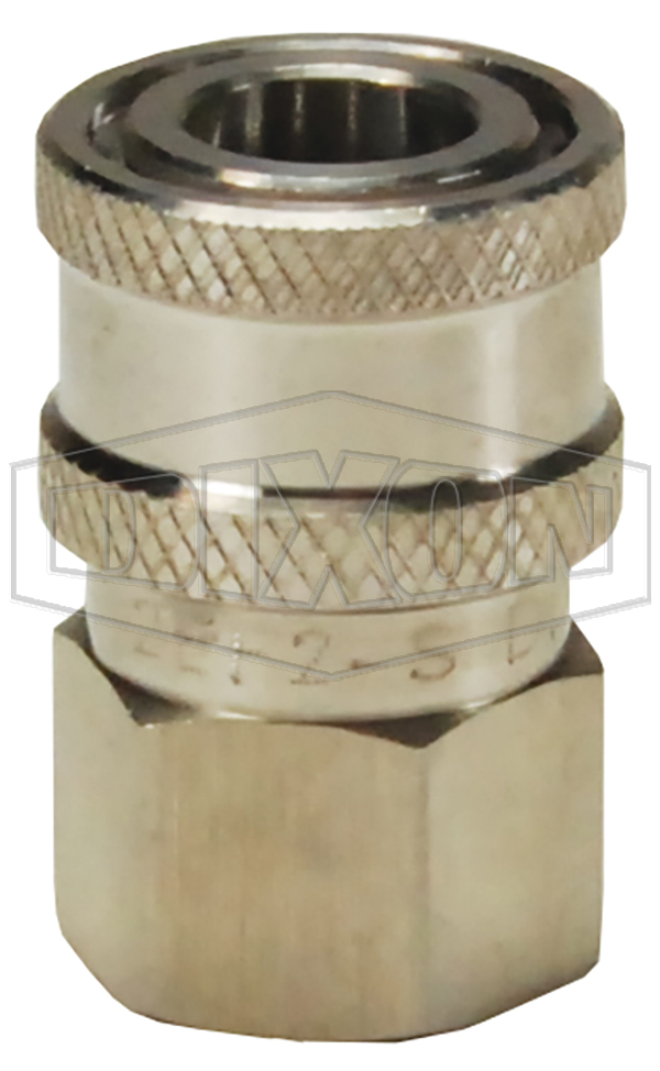 quick disconnects e series hydraulic straight through interchange female threaded couplers