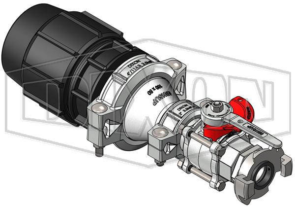 110mm Plasson® with 50mm Minsup® Surelock Econovalve™ Header Assembly