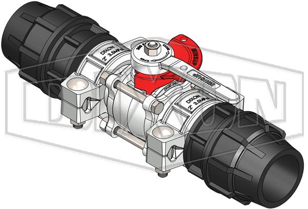 50mm Minsup® Shouldered, Econovalve™ Assembly with Plasson® Adaptors
