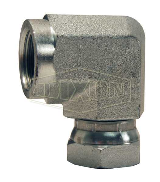 90° Female NPTF x Female NPSM Swivel Nut Elbow