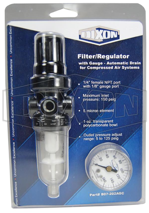 B07 Series 1 FRL's Carded Miniature Filter/Regulator